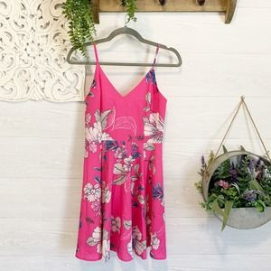 Yumi Kim | Pink Floral Fit and Flare Dress, XS